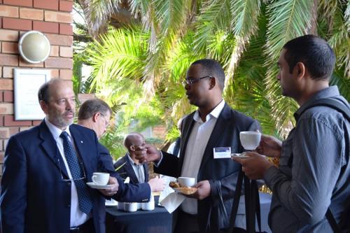 Taking a break - Prof Henry Wissink and Dr Mabutho Sibanda
